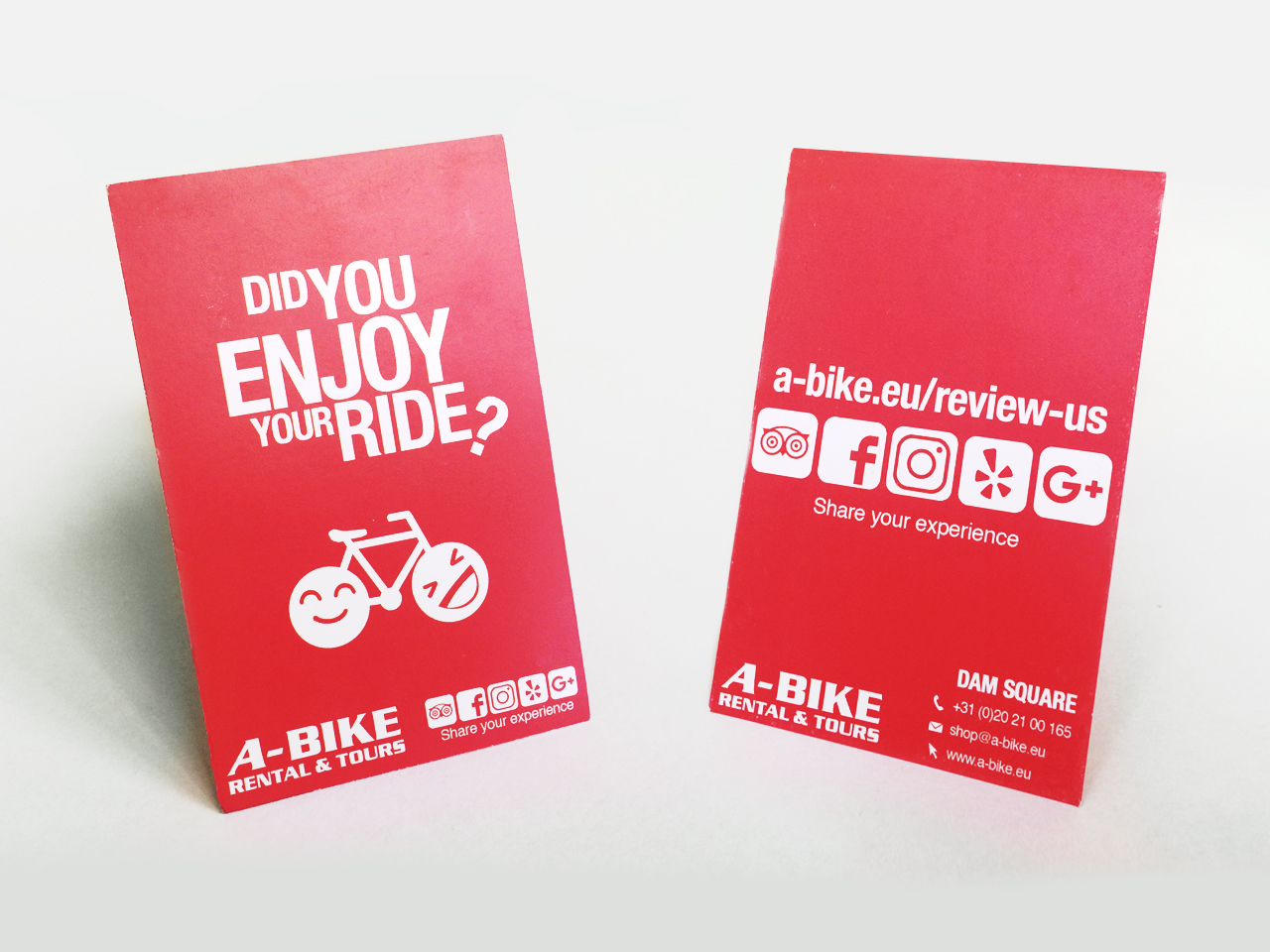 Abike comment card