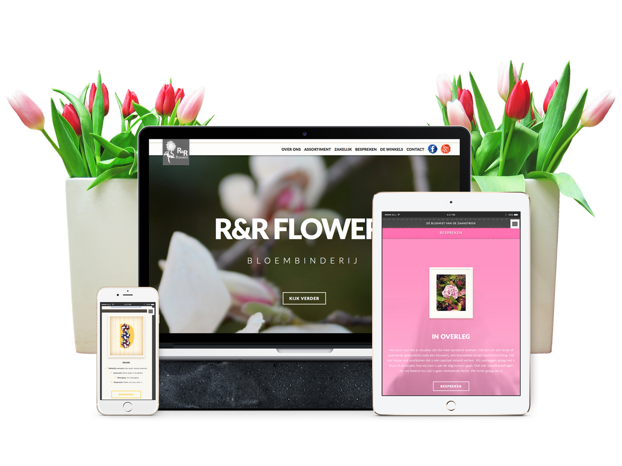 R&R Flowers website